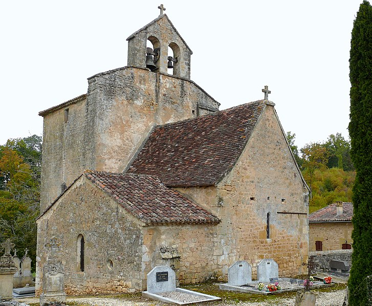 Photo du Monument Historique Eglise Saint-Romain situé à Saint-Romain-de-Monpazier