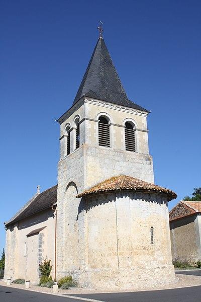 Photo du Monument Historique Eglise Saint-Vincent situé à Saint-Vincent-Jalmoutiers