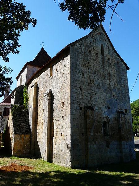 Photo du Monument Historique Eglise Saint-loup d'Eybenes situé à Salignac-Eyvignes