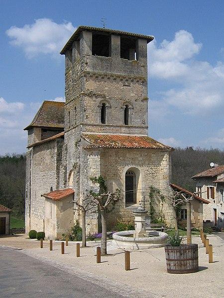 Photo du Monument Historique Eglise Saint-Pierre-ès-Liens situé à Siorac-de-Ribérac