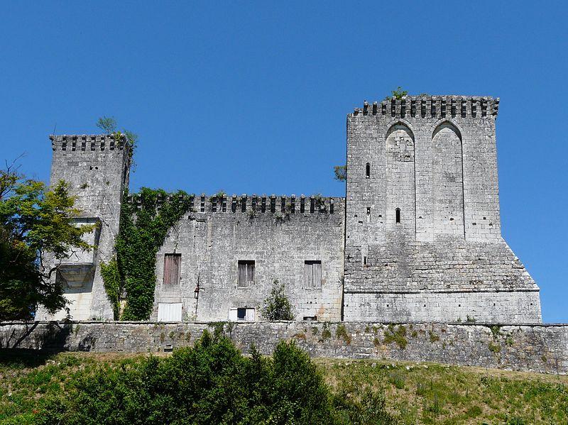 Photo du Monument Historique Ruines du donjon situé à La Tour-Blanche