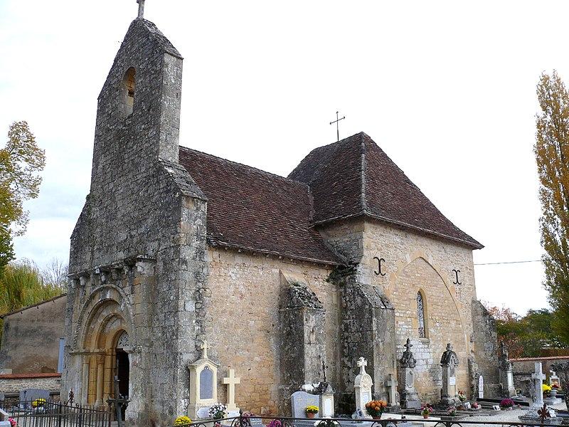 Photo du Monument Historique Ancienne église Saint-Hilaire situé à Trémolat