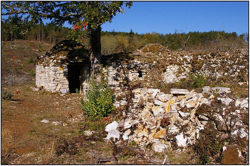 Photo du Monument Historique Cabane en pierre sèche de la Combe du Rat situé à Daglan