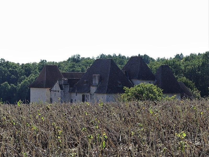 Photo du Monument Historique Manoir de l'Aubespin situé à Monsaguel