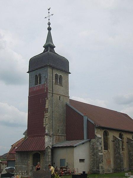 Photo du Monument Historique Eglise situé à Bannans