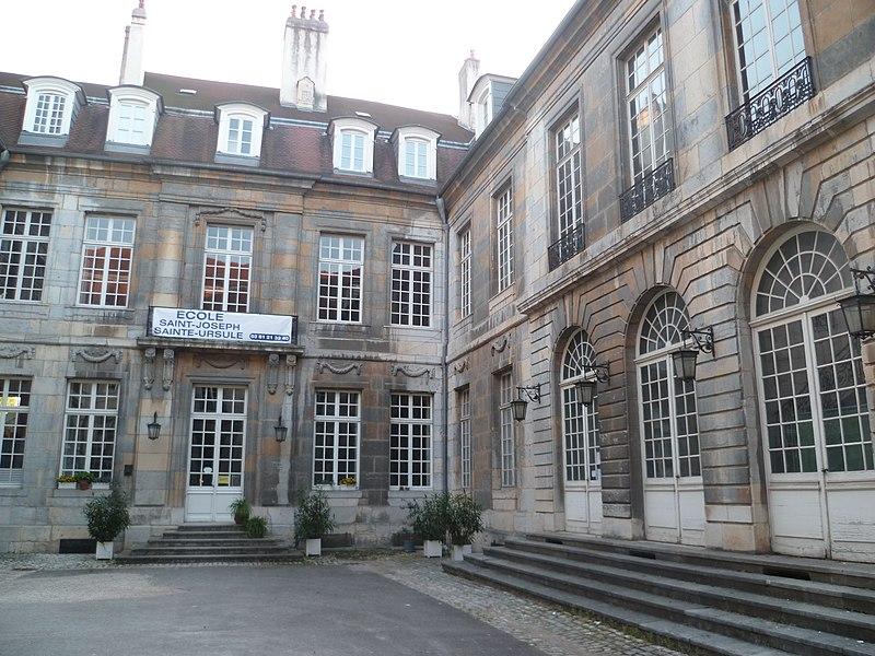 Photo du Monument Historique Hôtel Terrier de Santans situé à Besançon