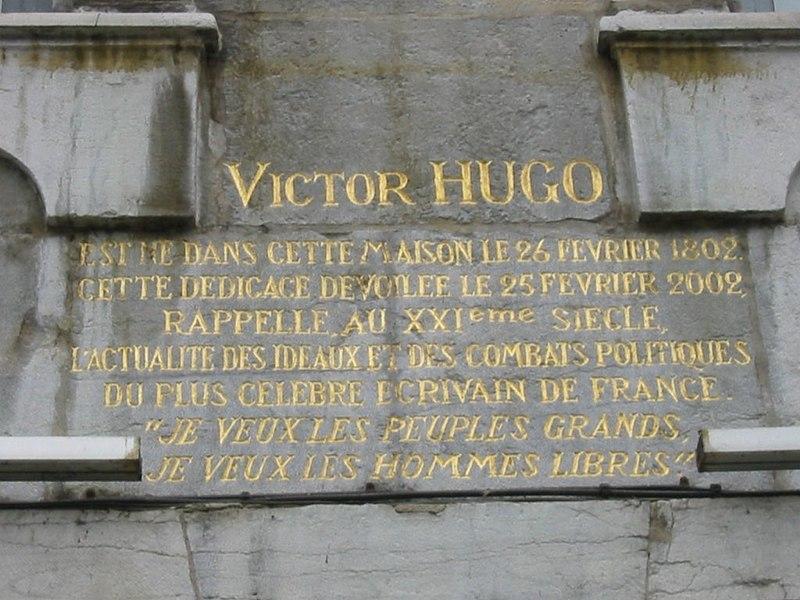 Photo du Monument Historique Maison natale de Victor Hugo situé à Besançon