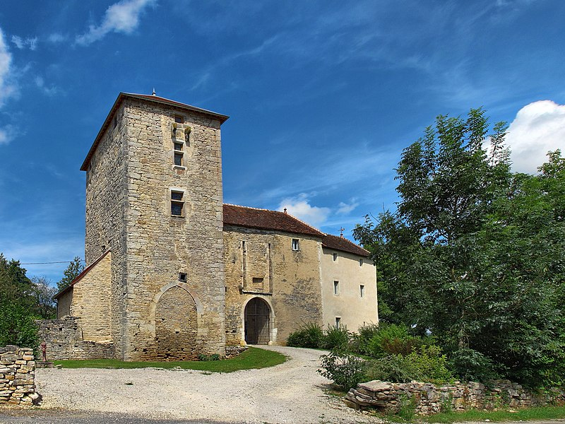 Photo du Monument Historique Château de Cordiron situé à Burgille