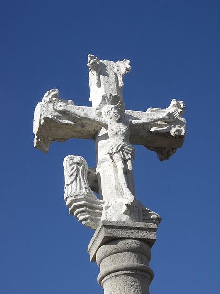 Photo du Monument Historique Croix de chemin en pierre situé à Domprel
