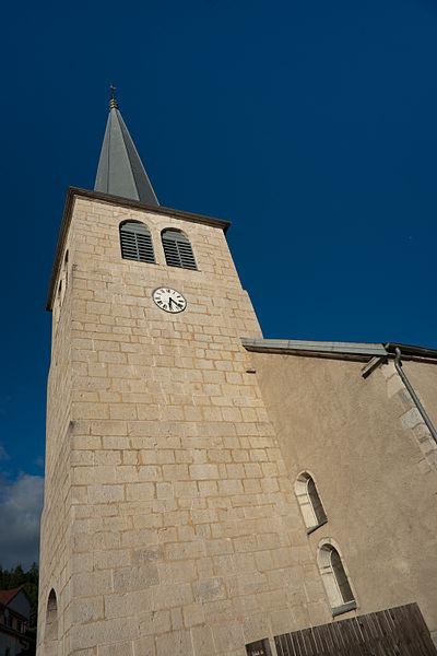 Photo du Monument Historique Eglise situé à Hôpitaux-Neufs (Les)