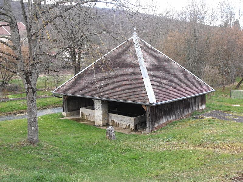 Photo du Monument Historique Fontaine-lavoir situé à Hyèvre-Paroisse