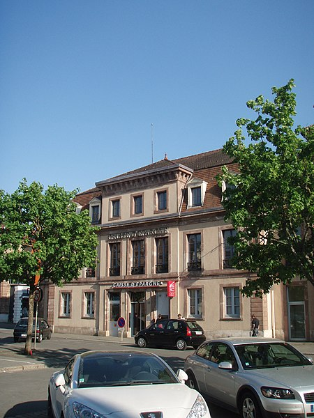 Photo du Monument Historique Maison mitoyenne à l'hôtel Beurnier-Rossel situé à Montbéliard