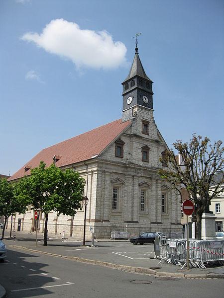 Photo du Monument Historique Temple protestant Saint-Martin situé à Montbéliard