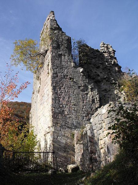 Photo du Monument Historique Château (ruines) situé à Montjoie-le-Château