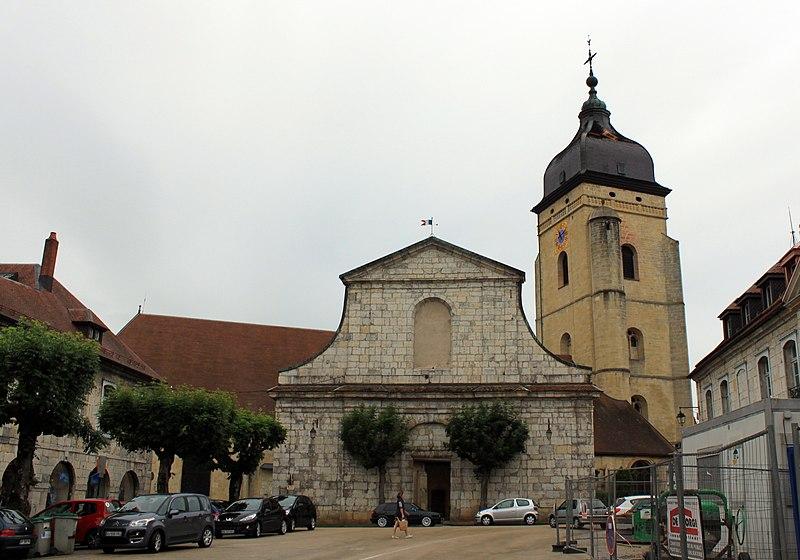 Photo du Monument Historique Construction projetée au 18e siècle en avant de l'église Saint-Bénigne situé à Pontarlier