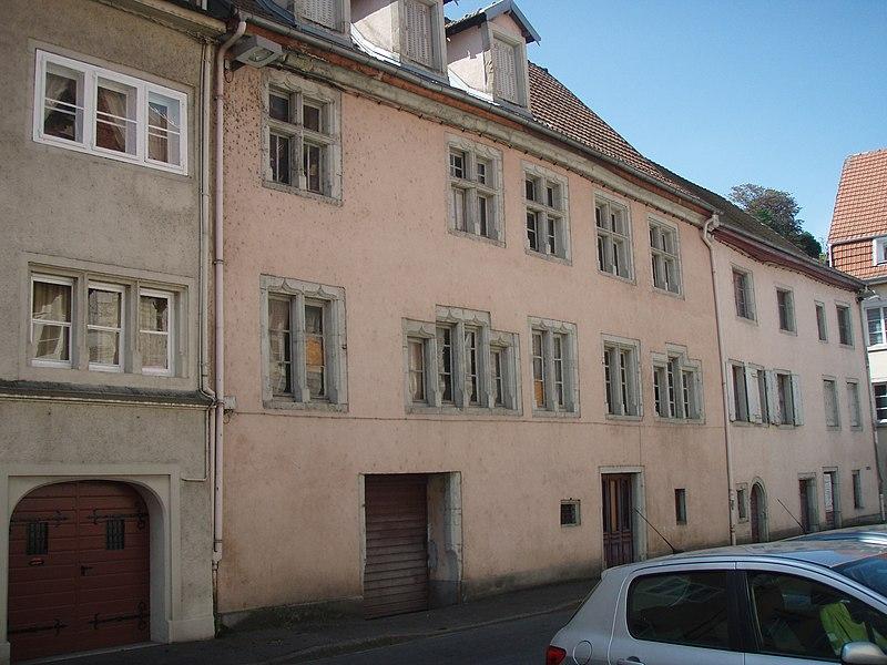 Photo du Monument Historique Hôtel de voyageurs du Lion Rouge situé à Montbéliard