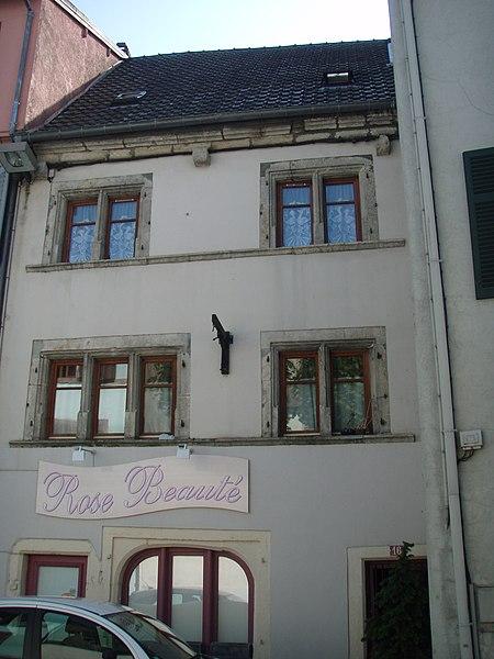 Photo du Monument Historique Maison situé à Montbéliard