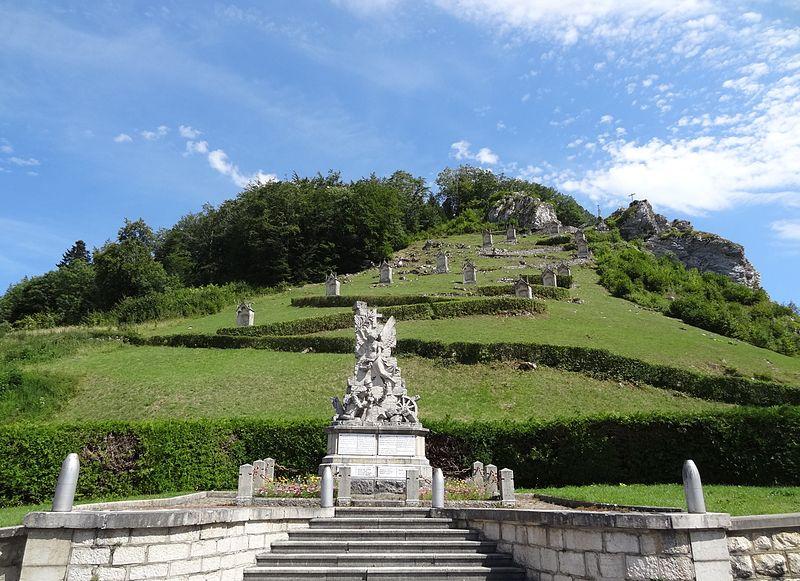 Photo du Monument Historique Mont-calvaire de Sombacour (également sur commune de Bians-les-Usiers) situé à Sombacour