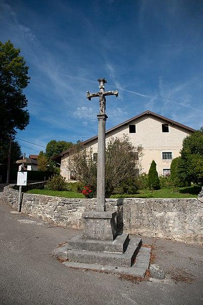 Photo du Monument Historique Croix en pierre 1604 situé à Planée (La)
