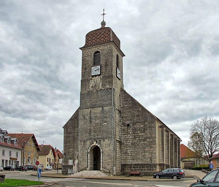 Photo du Monument Historique Eglise situé à Pierrefontaine-les-Varans