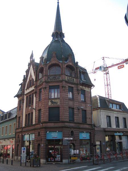 Photo du Monument Historique Immeuble dit Le Lion de Peugeot situé à Montbéliard