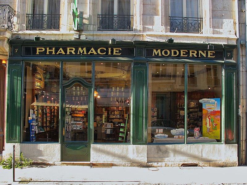Photo du Monument Historique Boutique (pharmacie) situé à Besançon