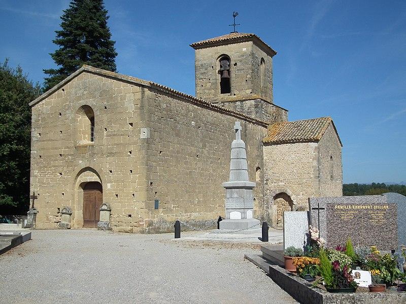 Photo du Monument Historique Eglise Saint-Pierre situé à Chabrillan