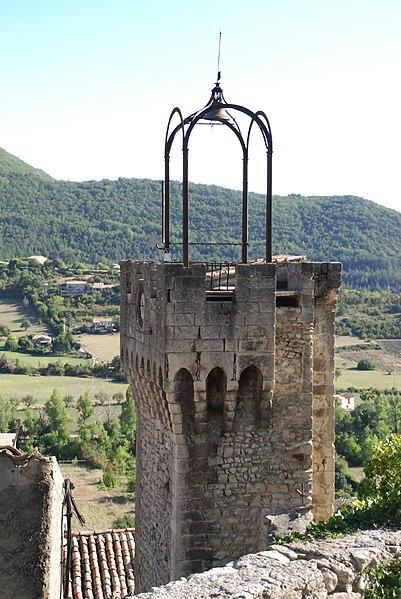 Photo du Monument Historique Beffroi situé à Montbrun-les-Bains