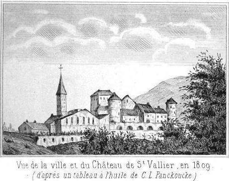 Photo du Monument Historique Château et ses jardins à la française situé à Saint-Vallier