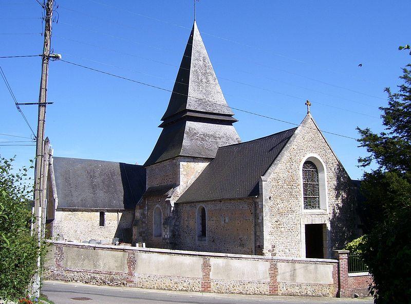 Photo du Monument Historique Eglise situé à Menneval