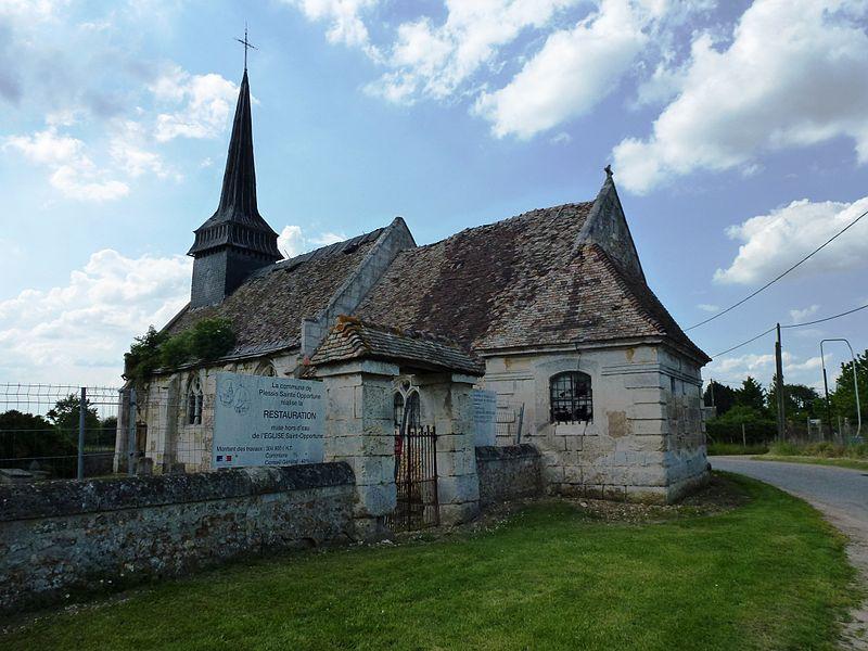 Photo du Monument Historique Eglise de Sainte-Opportune situé à Le Plessis-Sainte-Opportune