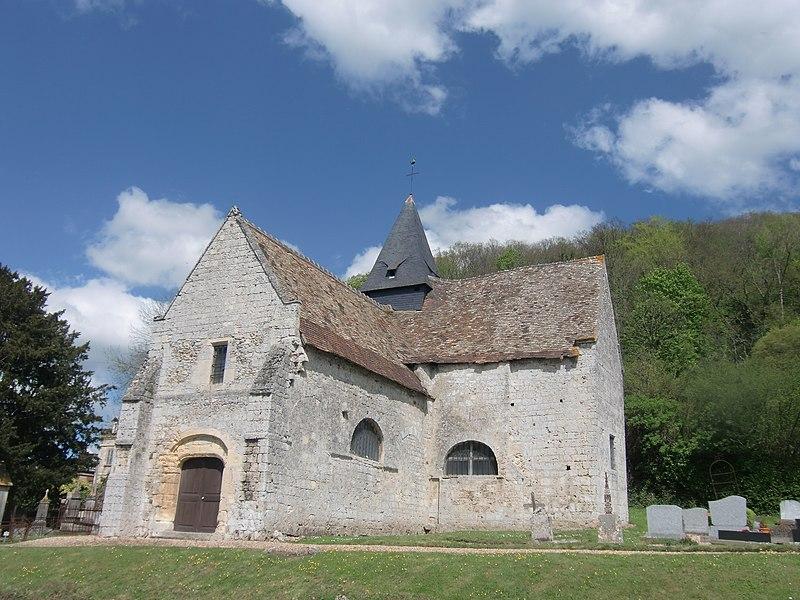 Photo du Monument Historique Eglise paroissiale Saint-Georges-de-Fiquefleur situé à Fiquefleur-Equainville
