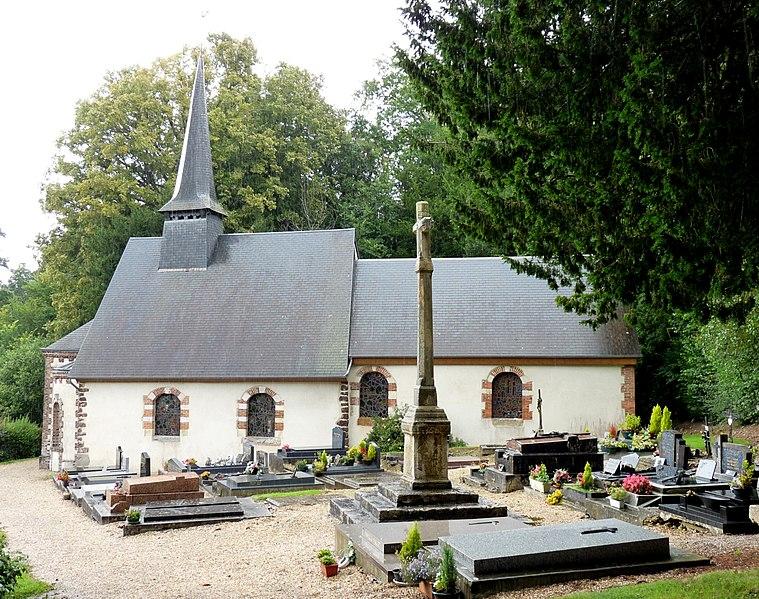 Photo du Monument Historique Eglise Saint-Denis situé à Saint-Denis-d'Augerons