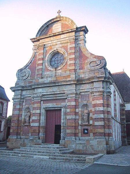 Photo du Monument Historique Eglise Saint-Nicolas situé à Ferté-Vidame (La)
