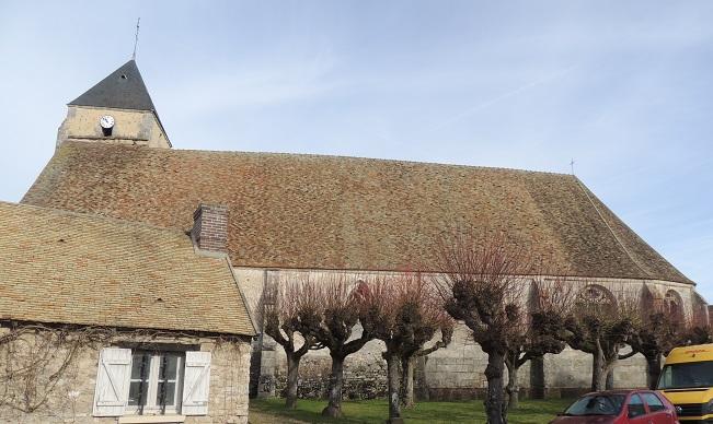 Photo du Monument Historique Eglise Saint-Lubin situé à Saint-Lubin-de-la-Haye