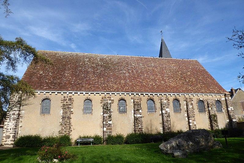Photo du Monument Historique Eglise Saint-Jean-Baptiste situé à Saumeray