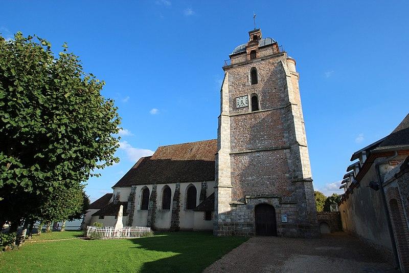 Photo du Monument Historique Eglise paroissiale Saint-Lubin situé à Boullay-Thierry (Le)