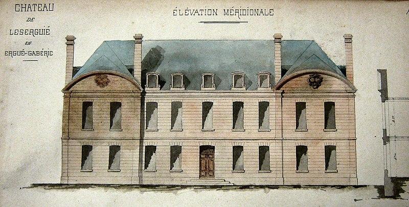 Photo du Monument Historique Château de Lezergué situé à Ergué-Gabéric