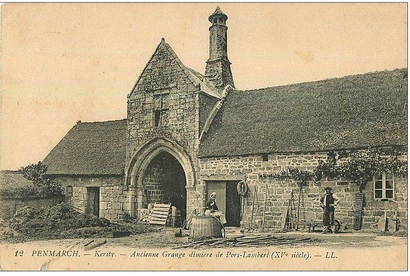 Photo du Monument Historique Grange à dîmes de Pors-Lambert situé à Penmarch
