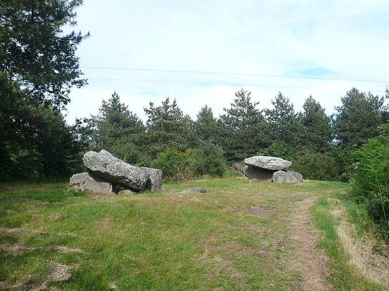 Photo du Monument Historique Deux dolmens de Kervadol et bande de terrain autour du dolmen situé à Plobannalec