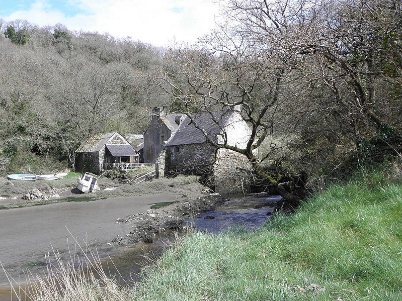 Photo du Monument Historique Moulin à marée de Melin Vor, ou de de Milin Vor situé à Plouézoch