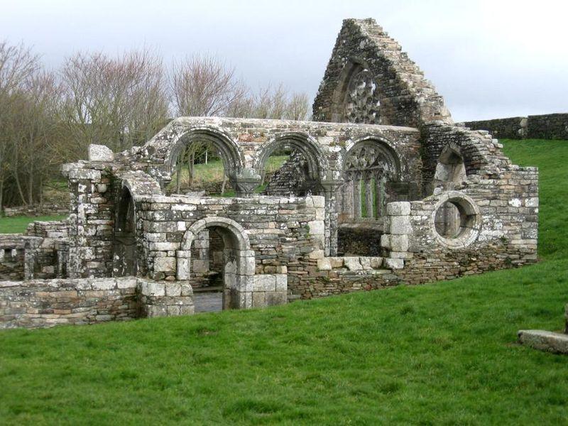 Photo du Monument Historique Ruines de la chapelle de Languidou situé à Plovan