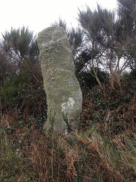 Photo du Monument Historique Menhir de Calès situé à Porspoder