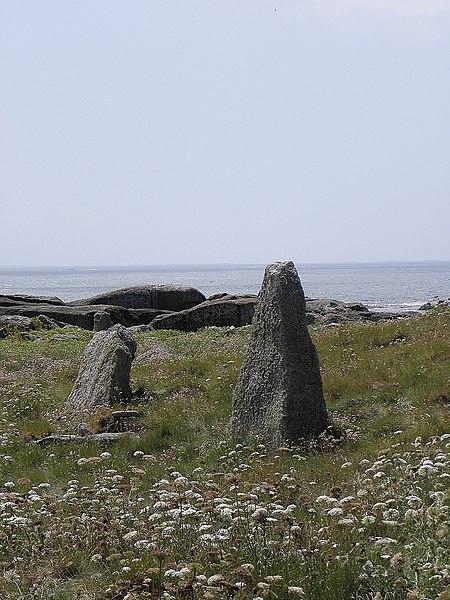 Photo du Monument Historique Grand menhir de l'île situé à Porspoder