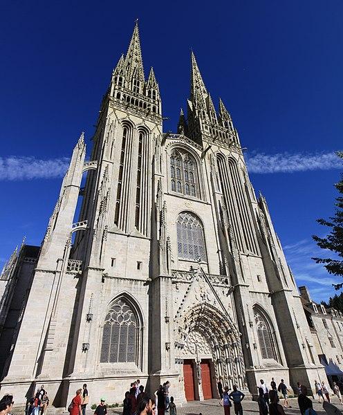 Photo du Monument Historique Cathédrale Saint-Corentin situé à Quimper