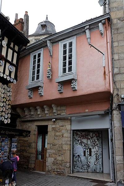 Photo du Monument Historique Maison situé à Quimper