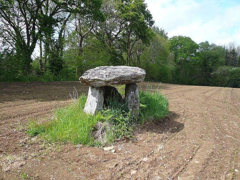 Photo du Monument Historique Dolmen de Kerscao situé à Riec-sur-Belon