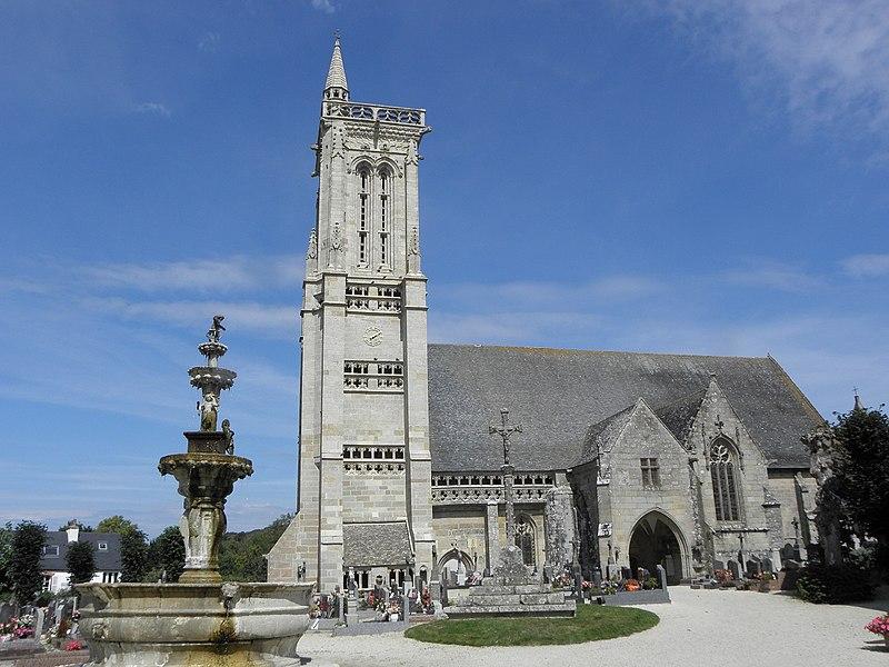 Photo du Monument Historique Eglise Saint-Jean-Baptiste situé à Saint-Jean-du-Doigt