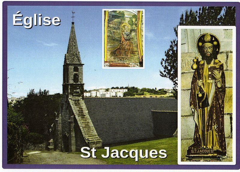 Photo du Monument Historique Eglise Saint-Jacques de Pouldavid situé à Douarnenez