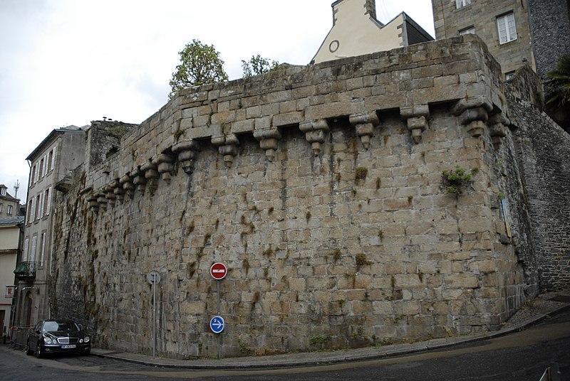 Photo du Monument Historique Remparts situé à Morlaix